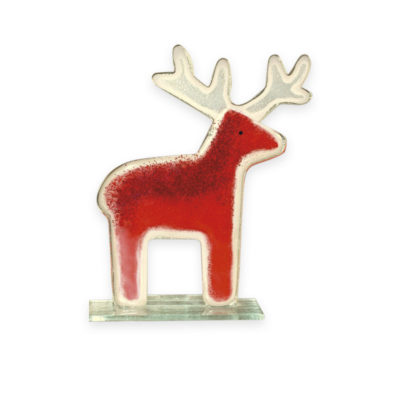Handmade Fused Glass Reindeer