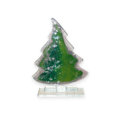 Handmade Fused Glass Christmas Tree