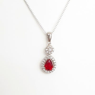 Red Cubic Zirconia necklace