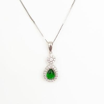Green Cubic Zirconia necklace