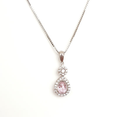 Pink Cubic Zirconia necklace
