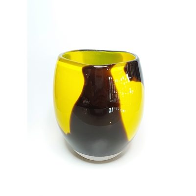 Yellow Glass Vase