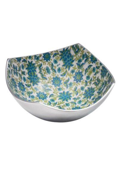 Large Floral Print Aluminium 4 Point Bowl