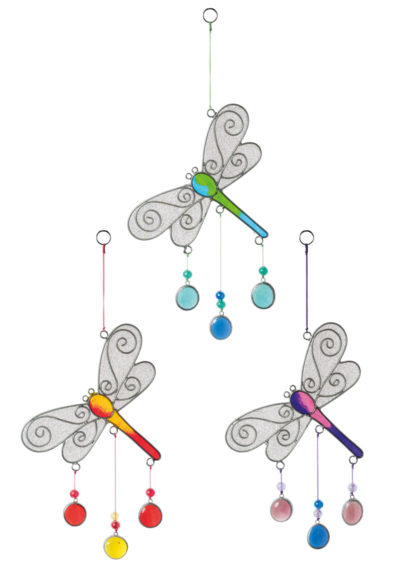 Dragonfly Resin Sun catcher with Beads