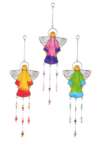 Angel Resin Sun catcher with Beads