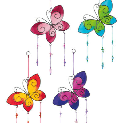 Butterfly Resin Sun catcher with Beads