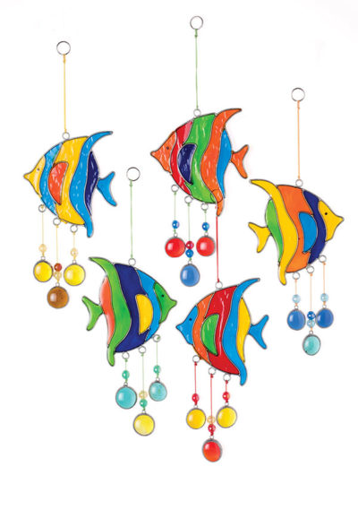 Angel Fish Resin Sun catcher with Beads