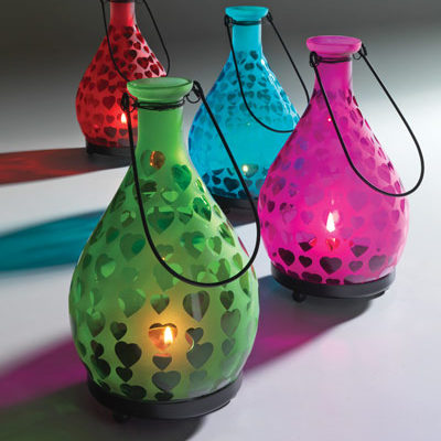 Coloured Frosted Glass Lantern