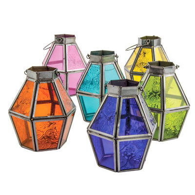 Coloured Glass Lantern