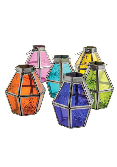 Coloured Glass Lantern