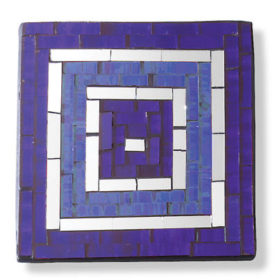 Set of 4 two-tone square mosaic coasters