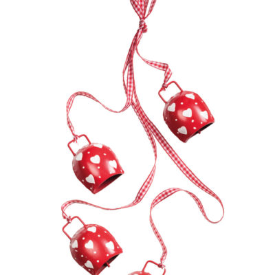 Bunch of Red & White Iron Bells