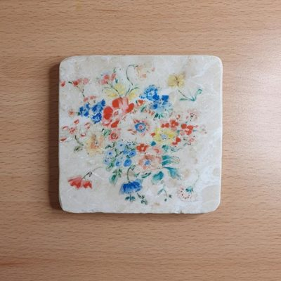 Marble Coaster - Flowers