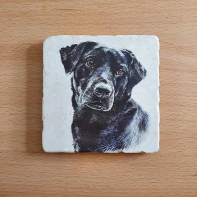 Marble Coaster - Black Labrador