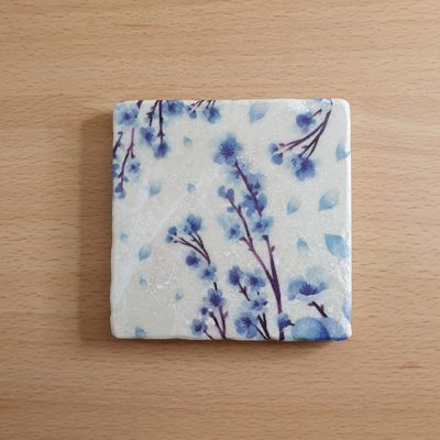 Marble Coaster - Blue Blossom