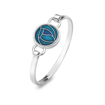 Mackintosh Turquoise Rose Bangle