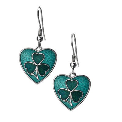 Shamrock Heart Earrings