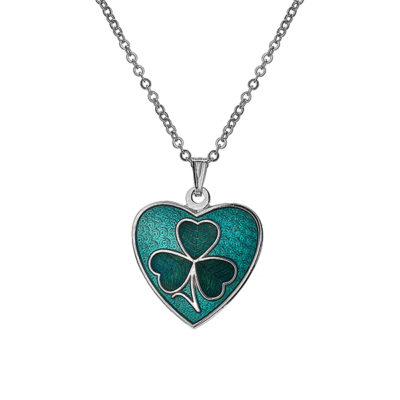 Shamrock Heart Necklace