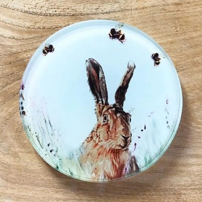 Glass Coaster - Hare 'n' Seek