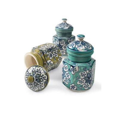 Hand Painted Ceramic Storage Jar