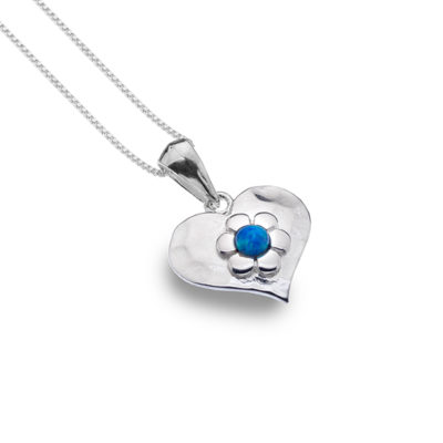 Blue Love Flower Necklace