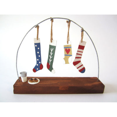 Four hanging stockings