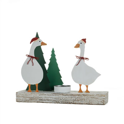 Christmas Geese Votive