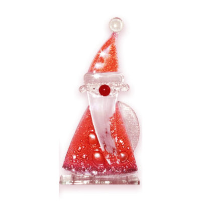 Handmade Fused Glass Santa