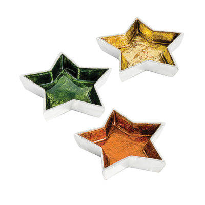Foiled Aluminium Star Shaped Dish