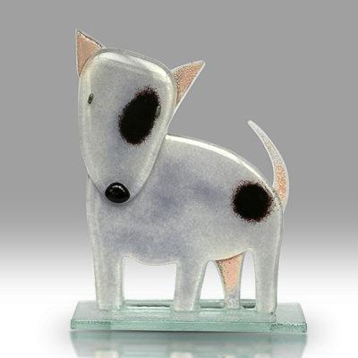Handmade Fused Glass Bull terrier