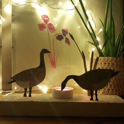 Two Geese Votive
