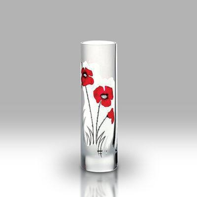 Classic Poppy Glass Vase