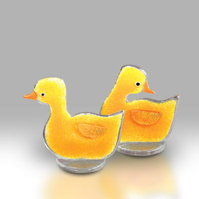Handmade Fused Glass Duckling