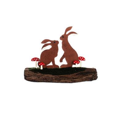 Hares driftwood block