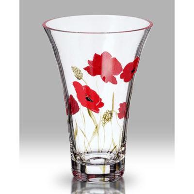 Poppy Fields Glass Vase