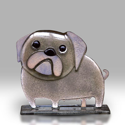 Handmade Fused Glass Pug