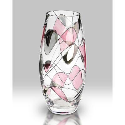 Pink Mosaic Glass Vase