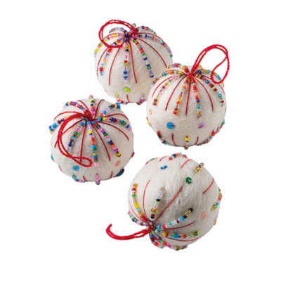 Hanging Felt Bauble with Beads