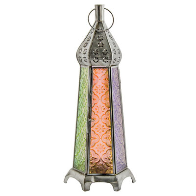 Tall Multi Colour Lantern