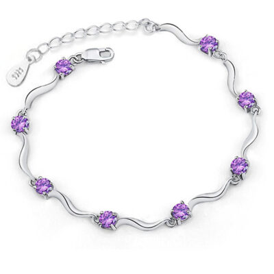 Cubic Zirconia & Sterling Silver Bracelet