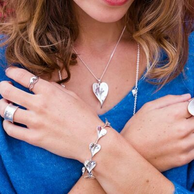 Leaf Heart Bracelet