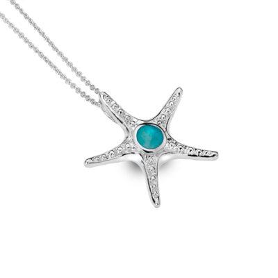 Turquoise Starfish Pendant