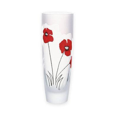 Classic Poppy Glass Round Vase