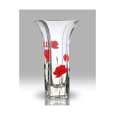 Poppy Fields Glass Flared Vase
