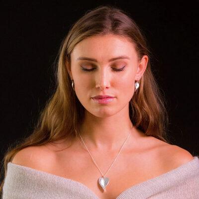Leaf Heart Pendant