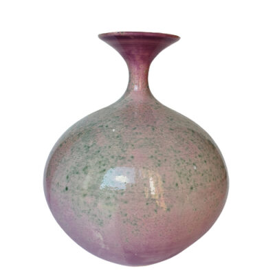 Handmade Purple Large Ceramic Bottle