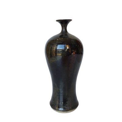 Handmade Black Ceramic Bottle