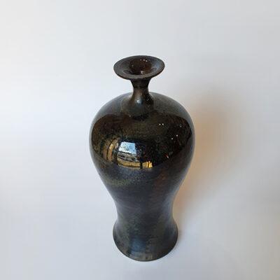 Handmade Black Ceramic Bottle
