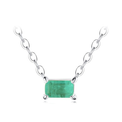Sterling Silver Green Tourmaline Necklace