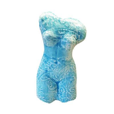 Handmade Turquoise Ceramic Torso